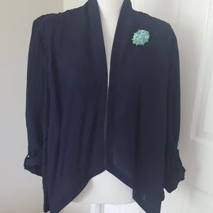 Navy Chico's Jacket 2 (12-14 ladies)